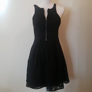 Express all lace black dress